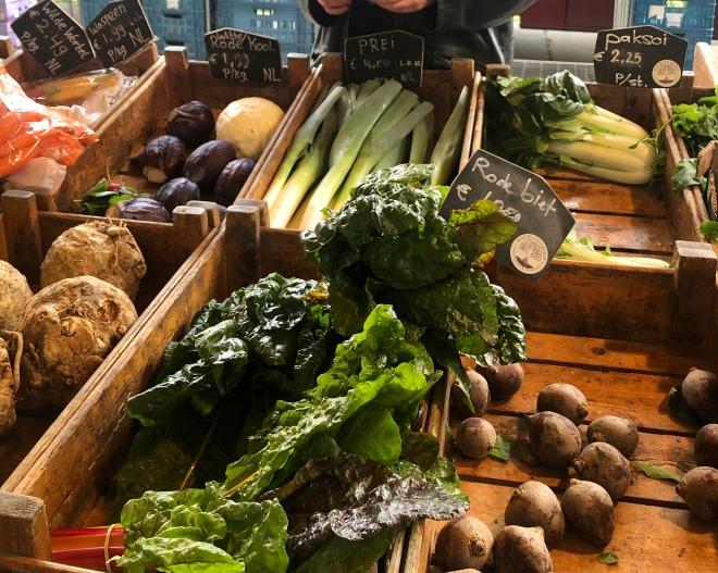 Biologische markt in Almere